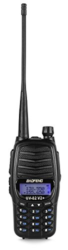 Baofeng Black UV-5R V2+ Plus (USA Warranty) Dual-Band 145-155/400-480 MHz FM Ham Two-way Radio, Improved Stronger Case, Enhanced Features by Baofeng Radio US (Image #1)