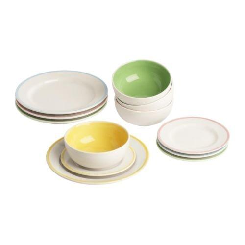 IKEA DUKTIG - Children's Plate/Bowl / 12 Pack
