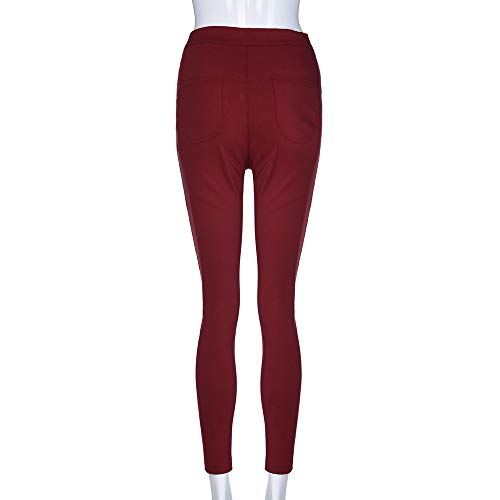 Jeans High Waist Stretch Trousers Applique Floral Pencil Fashion Ladies Skinny Sexy Women Kobay Wine Pants zvW1P18