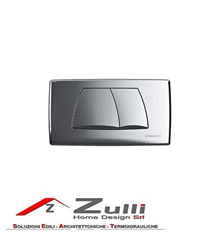 Geberit/ pour double charge de chasse: chrom/é brill devant /GEBERIT Poussoir Twinline 115.888.21.1