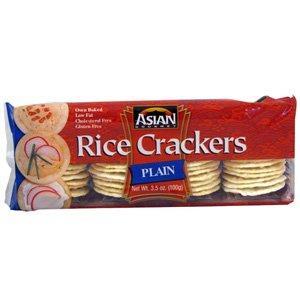 Asian Gourmet Plain Rice Crackers – 3.5 oz