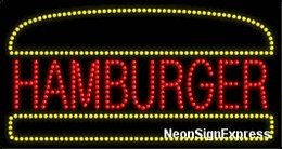 Hamburger LED Sign