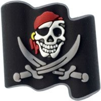 Crocs Jibbitz Assorted Shoe Charms -- Many Styles Licensed And Non Licensed To Choose From!, Pirate Flag from Jibbitz
