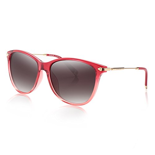 KALLA Women's Polarized Wayfarer Sunglasses, 100% UV protection, - Sunglasses 100 Uv