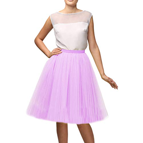 Wedding Planning Women's A Line Short Knee Length Tutu Tulle Party Skirt X-Large Lilac (Lilac Tutu)