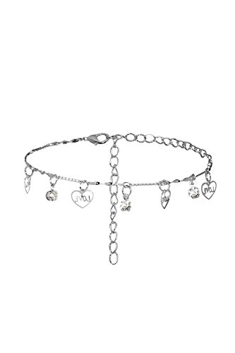Ancient Egyptian Dancers' Costumes (Anklet Feet Bracelet Heart Love Rhinestone Dangling Pendants Ladies Women Jewelry (Silver))