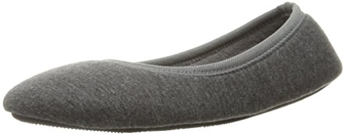 All Jersey Indoor Charcoal Knit Ballerina Slipper with Heathered Isotoner Foam Women's Around Memory Dark for Jillian Comfort Tw1OEAxx8q