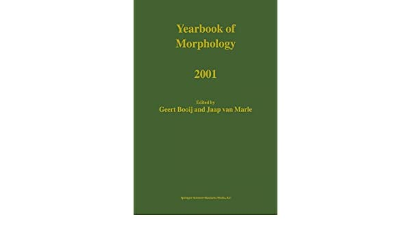 Yearbook of Morphology 2001