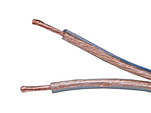 Monoprice 12 Gauge AWG Enhanced Loud Oxygen-Free Copper Speaker Wire/Cable (No Logo) - 100ft Jacketed in Durable Plastic with A Color Coded Conductor