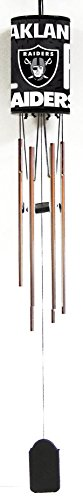 Oakland Raiders, NFL Chimes, Each Wind Chime Is All Metal with a Brass or Chrome Finish. Measures 33
