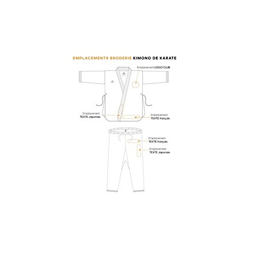 adidas kigai Karate Gi Uniforme WKF Approved/  / japon/és Cut