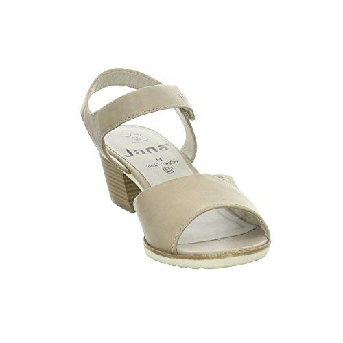 Sandalen 3 Grau 347 Frauen Jana Mode 36 28206 5 qfcP6OwXv7