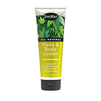 Shikai Cucumber Melon Hand Body Lotion, 8-Ounce Bottle Pack of 4