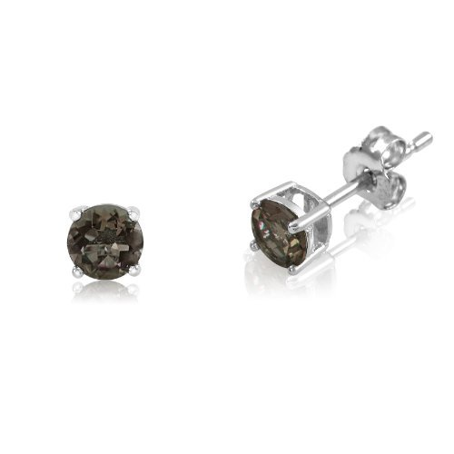 Smoky Quartz Sterling Earrings - 2