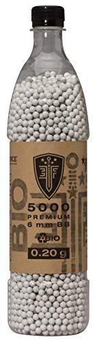 Elite Force Premium Biodegradable 6mm Airsoft BBS Ammo.20 Gram, 5000 Count