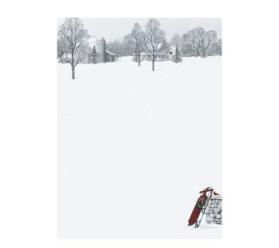 Winter Scene & Sled Holiday Paper - 80 Sheets by Great Papers!