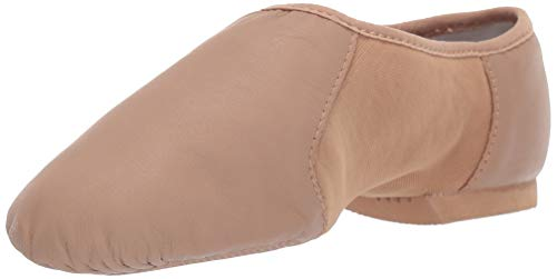 Bloch Girls Neo-Flex Slip On Jazz Shoe, Tan, 10 X(Medium) US Toddler
