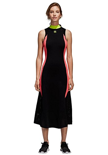 Vestito Sportivo CE0977 Nero KNIT adidas BLACK AA 42 Donna FLARED Abito HEEd8q