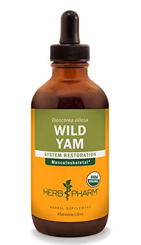 (Herb Pharm Certified Organic Wild Yam Liquid Extract for Musculoskeletal System Support - 4 Ounce)