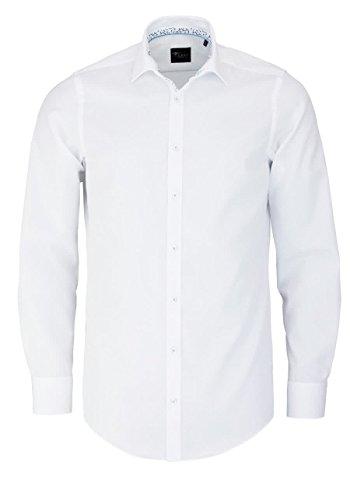 Venti Slim Fit Hemd Langarm New Kent Kragen Popeline Weiß