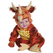 Baby Triceratops Costume (Rust Triceratops Dinosaur Toddler Costume)