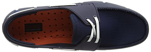 SWIMS Men's Boat Loafers, Navy/White, 7 D(M) US by SWIMS (Image #7)