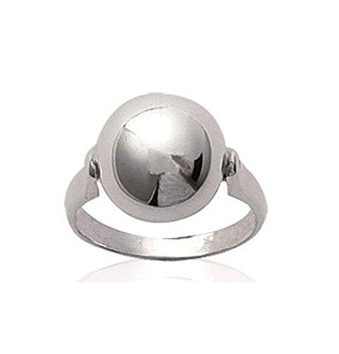 Bague en Argent 925/000 - Cabochon Boule Diametre 12 mm - Bijoux Femme