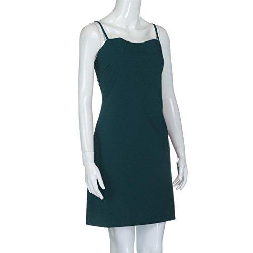 vestidos de fiesta cortos Switchali moda vestidos verano mujer diariamente Sin mangas Mini vestido de novia vintage casual de mujeres de senora atractivo Vestidos para mujer baratos Azul