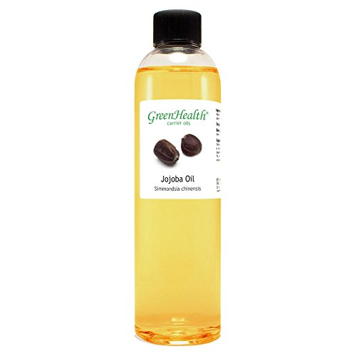 Jojoba Oil - 8 fl oz (237 ml) Plastic Bottle w/Cap - 100% Pure Carrier Oil - GreenHealth