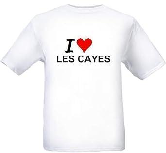 Amazon Com I Love Les Cayes City Series White T Shirt Clothing