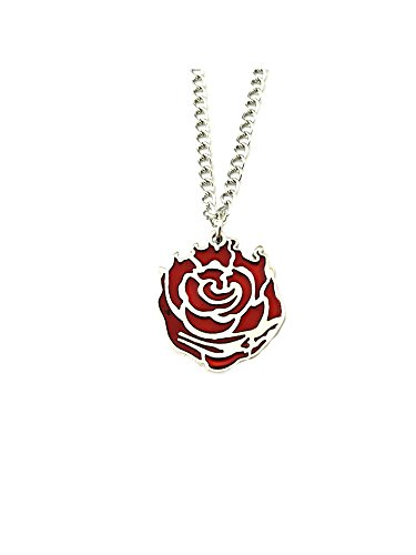 Ruby Rose Pendant Necklace Anime Manga TV Comics Movies Cartoon Superhero Theme Premium Quality Detailed Cosplay Jewelry Gift Series - Disney Ruby Necklace
