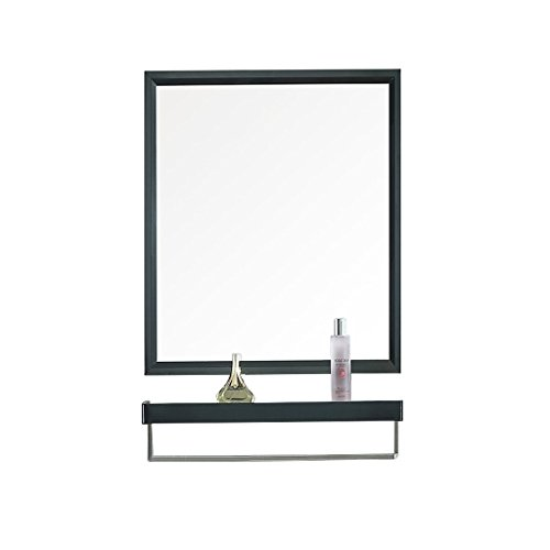 KOSGK Modern Simple Bathroom Mirror Stainless Steel Wall-Mounted Washable Mirror with Shelf -