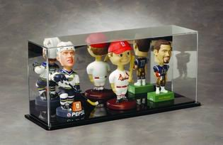 Bobble Head Display Case - Mirrored Multiple Bobblehead Display