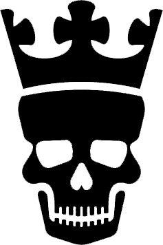 amazon com 5 inches black silhouette of skull with crown design