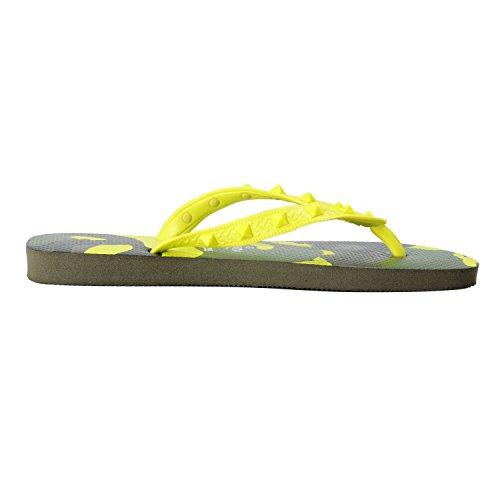 Valentino Garavani Från Havaianas Mens Grön Rockstud Kamouflage Flip Flops Skor Grön Kamouflage