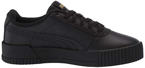 PUMA Women's Carina Sneaker, Black Team Gold, 5.5 M US