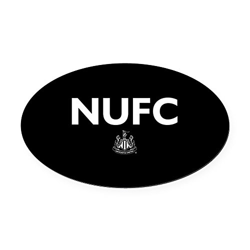 CafePress - Newcastle United FC- Full Bleed - Oval Car Magnet, Euro Oval Magnetic Bumper Sticker