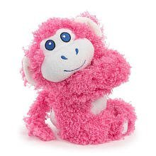 Hugwallas Plush Snap Animal - Pink Monkey