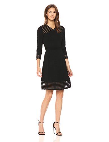 Calvin Klein Women's Sweater Dress With Illusion Hem