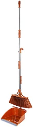 Czlsd プラスチック製ほうき ロングハンドル ほうきとちりとり 直立ほうき ほうき ちりとり セット 100179