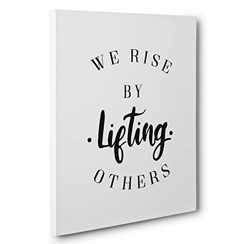 Other Decor - We Rise By Lifting Others Motivational Canvas Wall Art