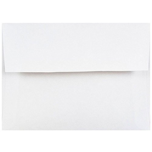 "JAM Paper 4Bar A1 Invitation Envelopes - 3 5/8"" x 5 1/8"" - White - 25/Pack"