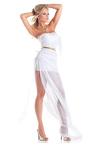 Be Wicked Costumes Women's Lovely Aphrodite Costume, White, Small/Medium (Aphrodite Costume Child)