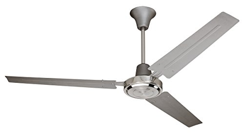 "Mainstays 56"" Utility Ceiling Fan, Titanium/Brushed Chrome 1"