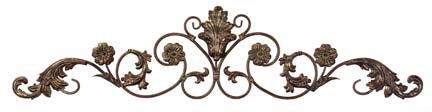 IMAX Allegra Wall Décor Hanging - Corrosion Resistant, Low Maintenance Metal Sculpture. Wall Art for Homes, Offices Iron Art