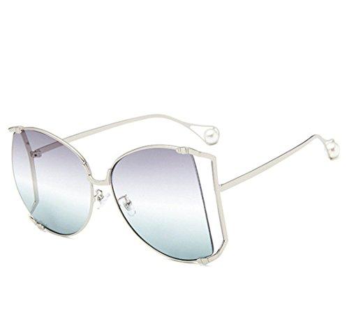 Gafas Las Ojo B Metal de expuesta de Sol Pearl GCC de Gafas I del Gato de Sol RxwW8Rq47d