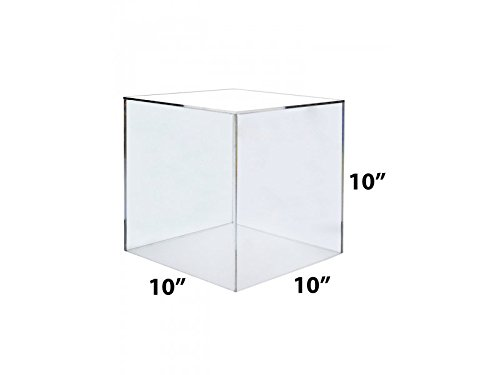 Marketing Holders Clear Acrylic 5 Sided Display Cubes Display Clear 10''x 10'' x 10'' by Marketing Holders