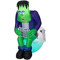 Gemmy 6-ft. Halloween Inflatable Surprise Monster Toilet Scene Deals