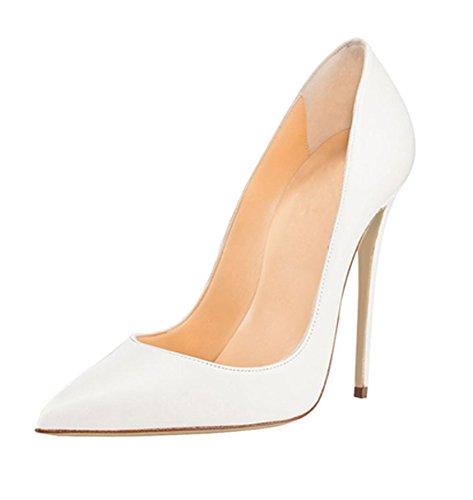Tacco Scarpe Chiuse Donna Donna Eleganti Soireelady col Scarpe da Donna Scarpe bianco IwEfga