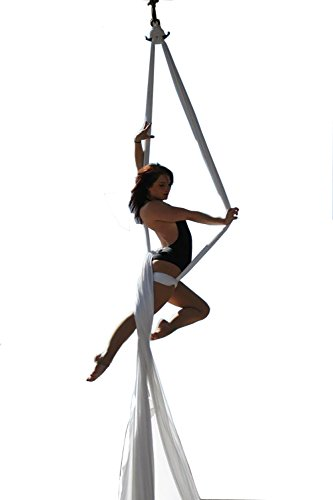 Dasking Premium Aerial Silks Equipment - Safe Deluxe Aerial Kit (white)